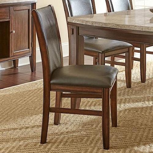 Steve silver eileen dining side chair with vinyl for Furniture upholstery spokane