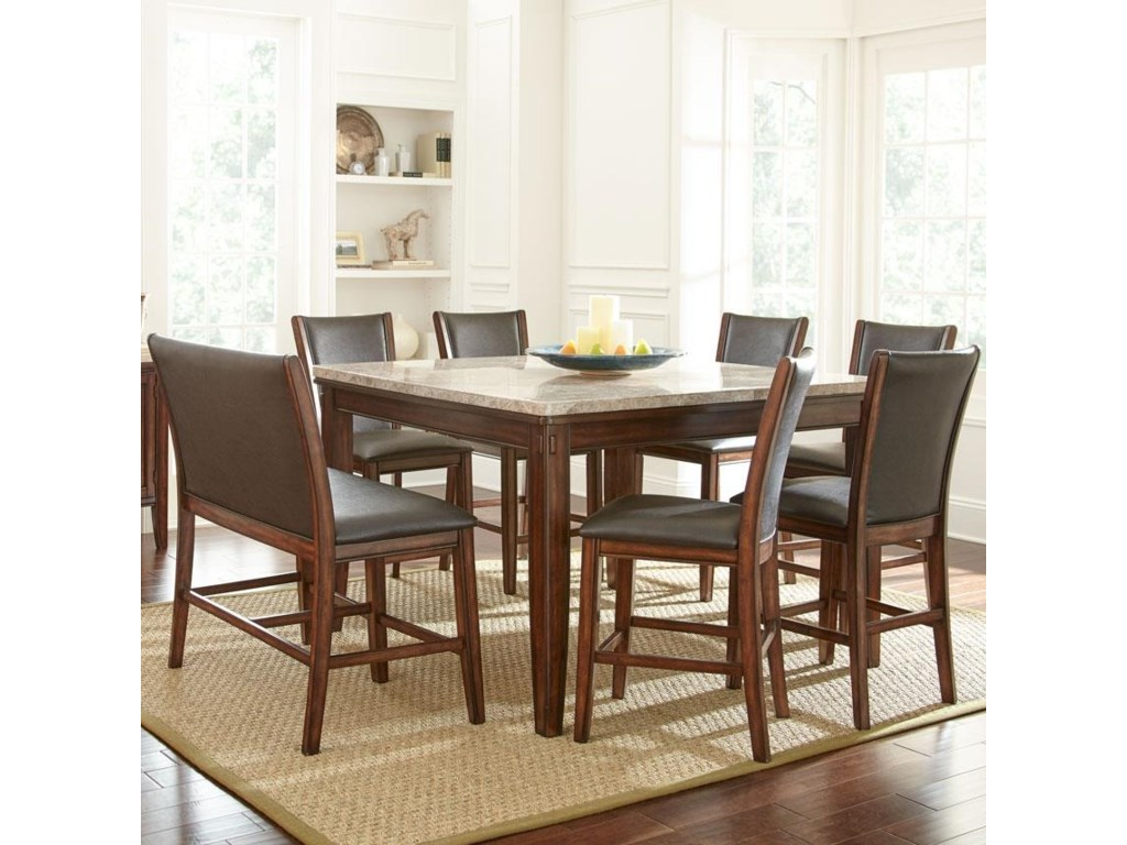 Steve Silver Eileen8-Piece Counter Table and Stool Set