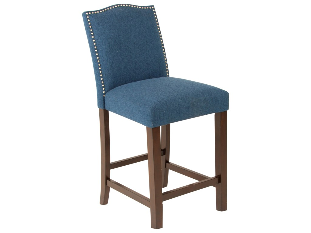 Steve Silver Elden Transitional Upholstered Counter Stool With