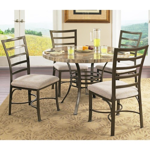 Steve Silver Ellen 5-Piece Round Table & Side Chairs Set