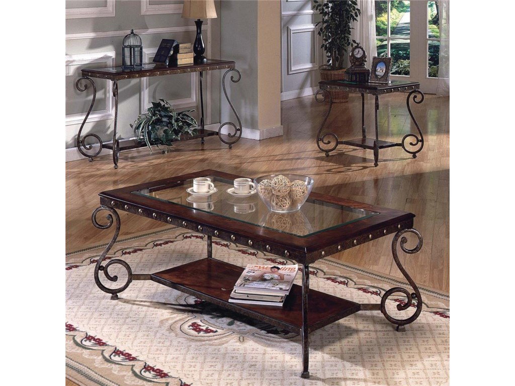 Shown with End Table & Sofa Table.