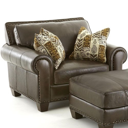 Steve Silver Escher Transitional Chair and a Half with 2 Pillows