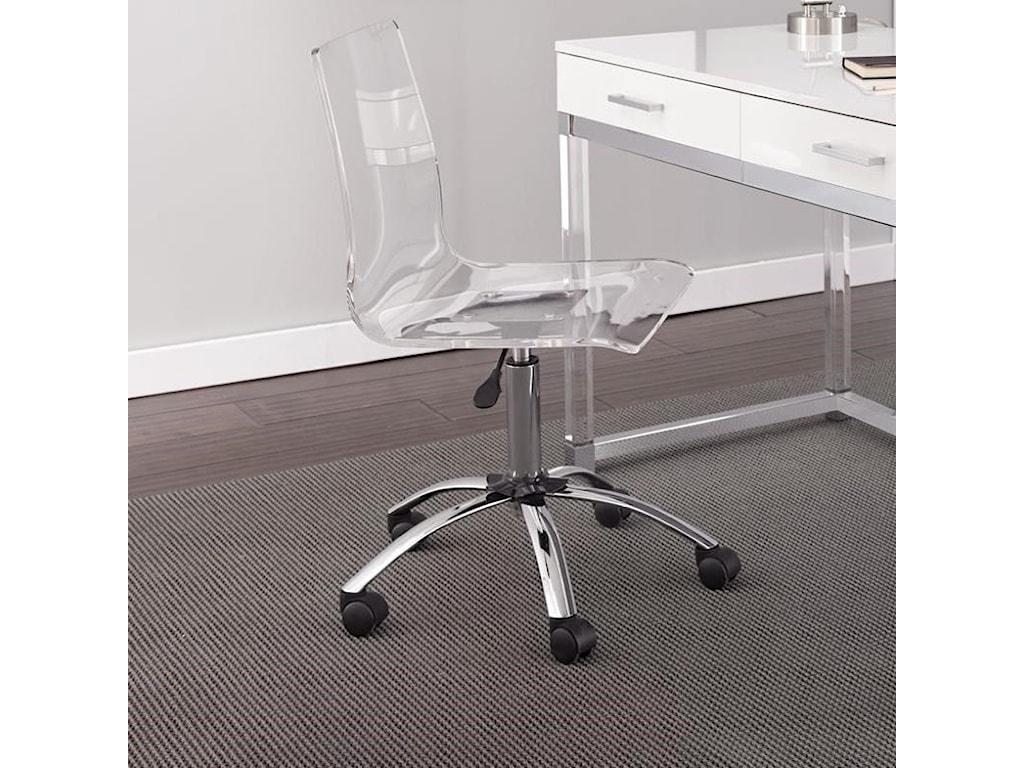 Steve Silver EverettAcrylic Swivel Chair