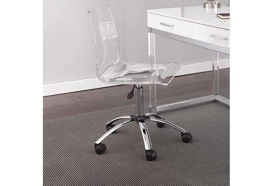 Steve Silver Everett Acrylic Swivel Chair