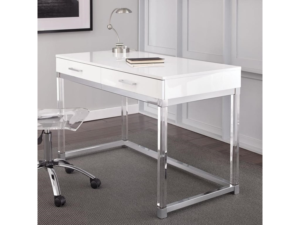 Steve Silver EverettWriting Desk with Acrylic Base