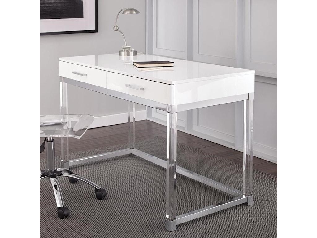 Steve Silver EverettWriting Desk with Acrylic Base