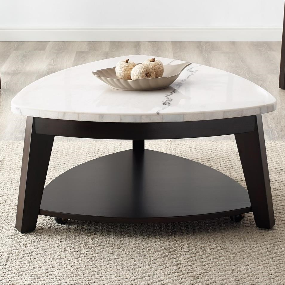 - Steve Silver Francis Contemporary Triangle Cocktail Table With