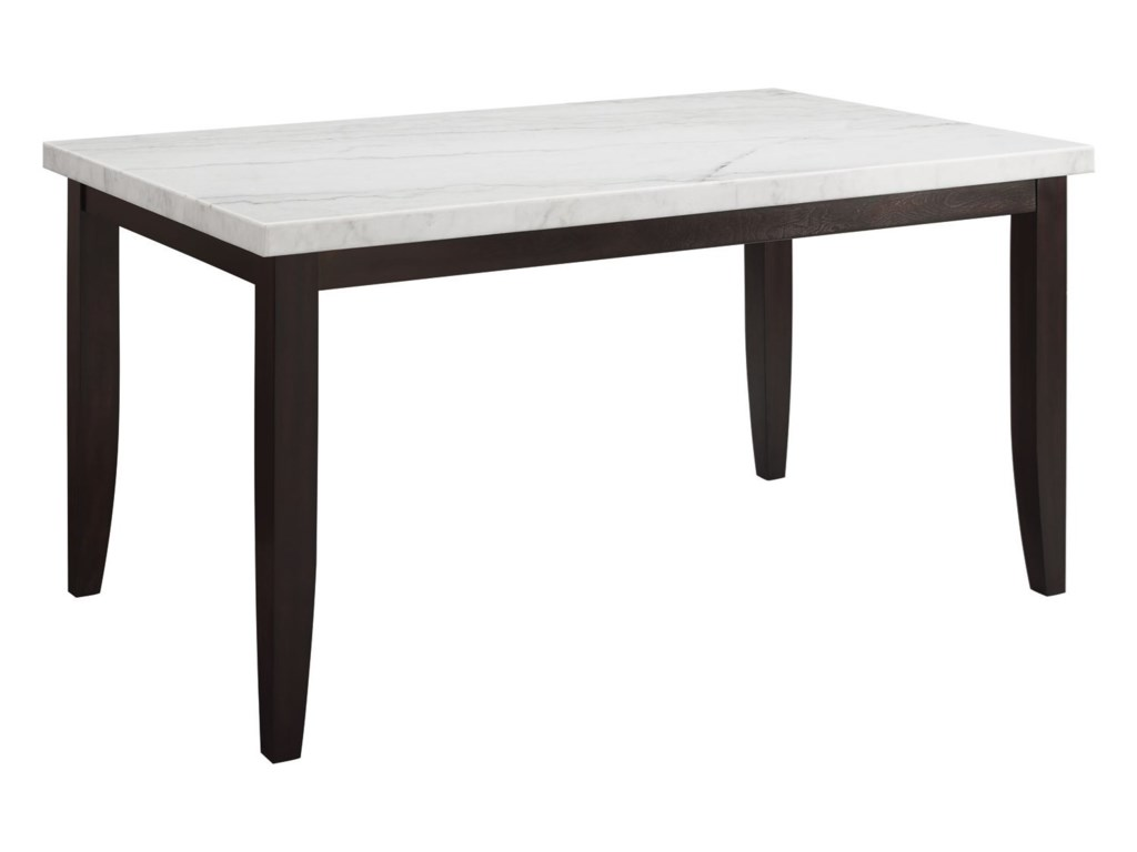 Steve Silver Francis Contemporary Rectangular Counter Height Dining Table With Marble Top Wayside Furniture Pub Tables