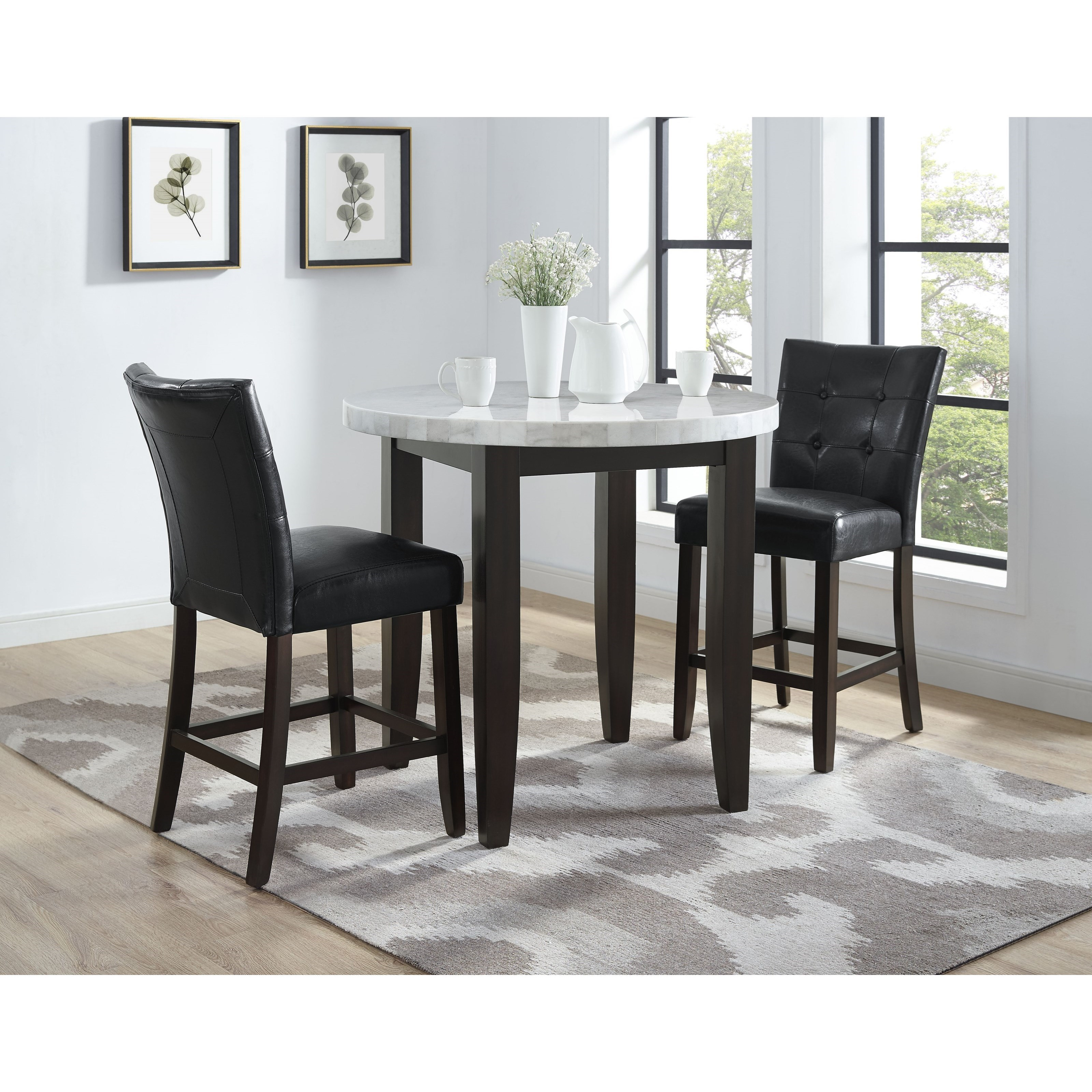 Steve Silver Francis 3 Piece Counter Height Table And Chair Set