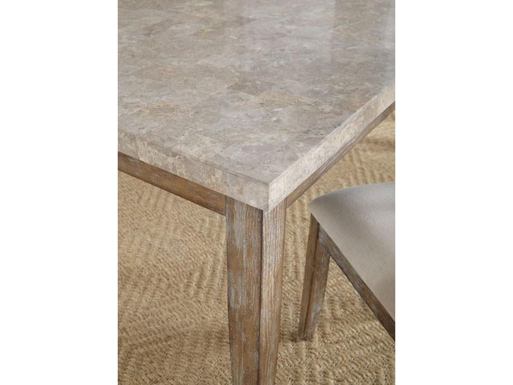 Steve Silver FrancoWhite Marble Top Table