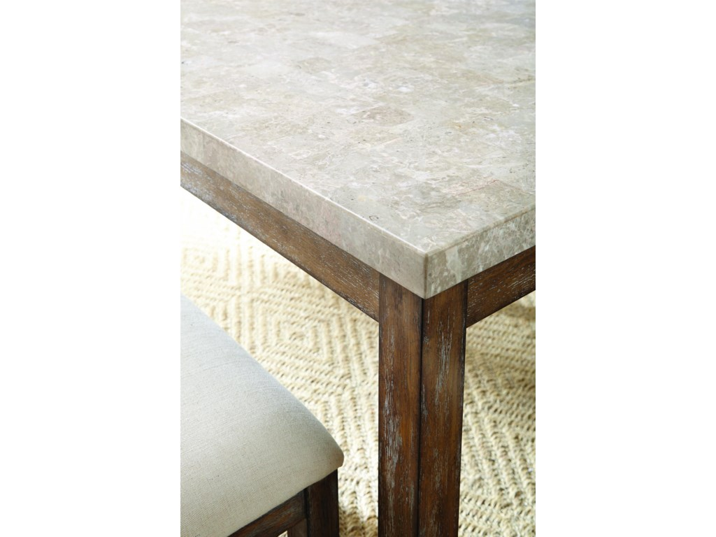 Morris Home FrancoWhite Marble Top Counter Table