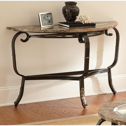 Steve Silver Gallinari Sofa Table with Glass Top