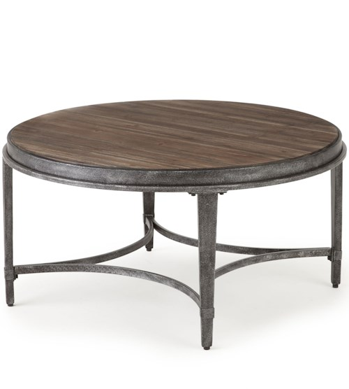 Steve Silver Gianna Round Cocktail Table with Metal Base