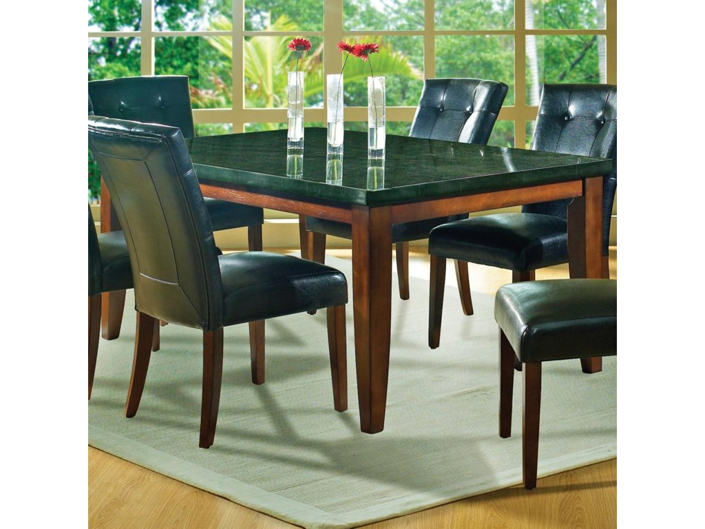 Morris Home Granite Bellogranite Top Leg Table
