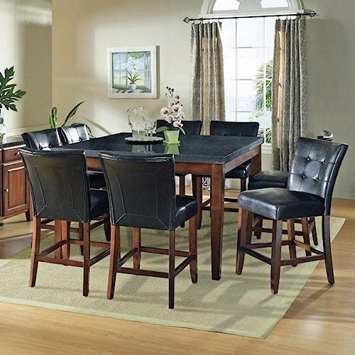 Steve Silver Granite Bello 9-Piece Gathering Table Set | Wayside ...