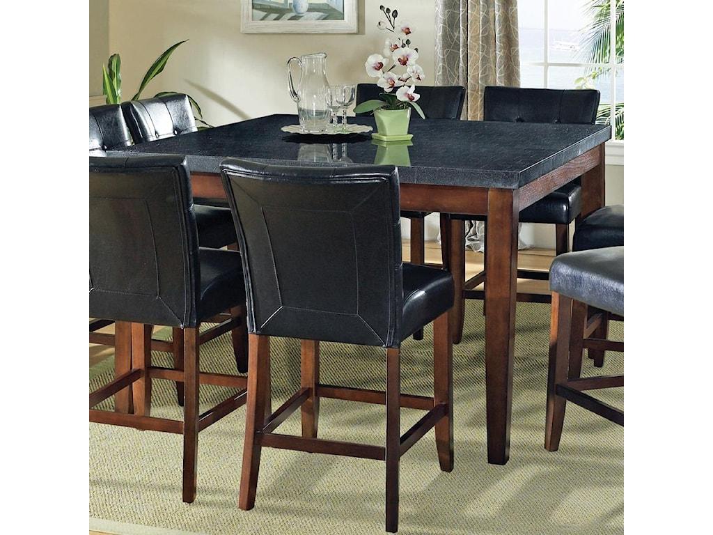 Morris Home Granite BelloGranite Top Counter Height Leg Table