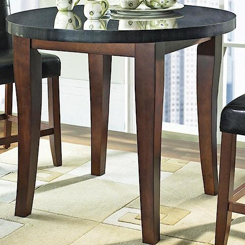 Steve Silver Granite Bello Round Granite Top Counter Height Table - Granite top counter height dining table