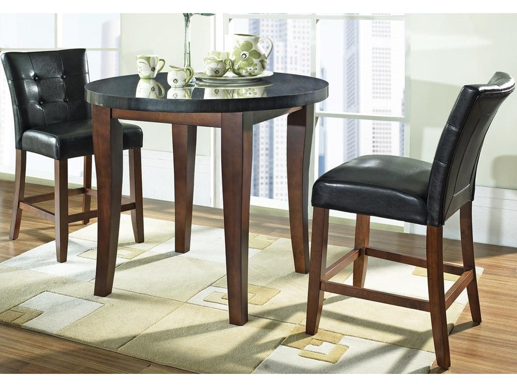 Morris Home Granite BelloGranite Top Counter Height Leg Table