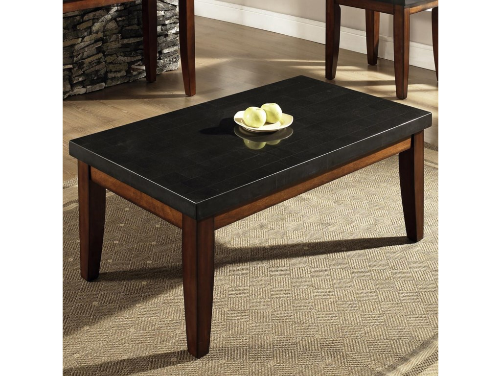 Steve Silver Granite Bello Rectangular Granite Top Cocktail Table
