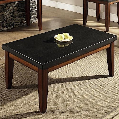 Steve Silver Granite Bello Rectangular Granite Top Cocktail Table