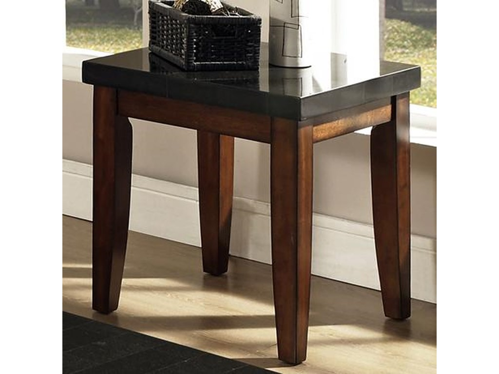 Steve Silver Granite Bello Granite Top End Table Walker S