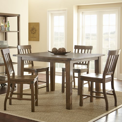 Steve Silver Hailee 5 Piece Dining Set with 18