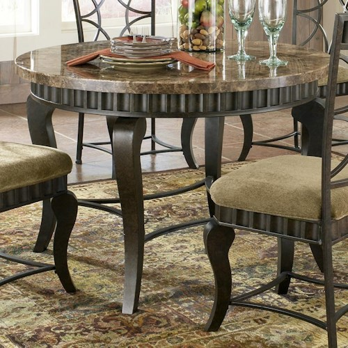 Marble Topped Kitchen Table Steve silver hamlyn round faux marble top metal dining table steve silver hamlyn round faux marble top metal dining table workwithnaturefo