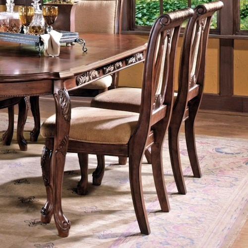 Steve Silver Harmony  Traditional Upholstered Seat Dining Side Chair