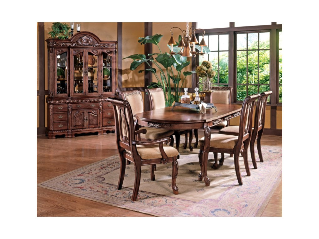 Steve Silver Harmony Piece Traditional Oval Dining Table And - Traditional oval dining table