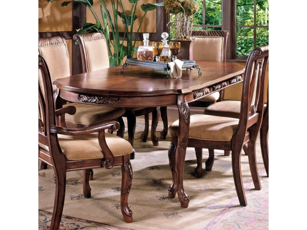 Steve Silver Harmony Traditional Cabriole Leg Dining Table ...