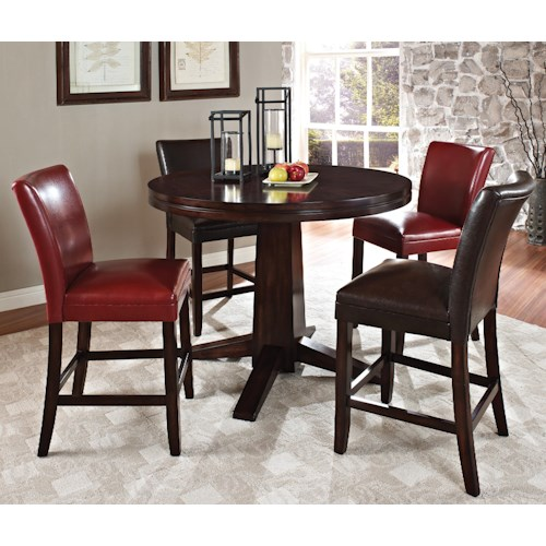 Steve Silver Hartford Contemporary 5 Piece Counter Height Dining Set