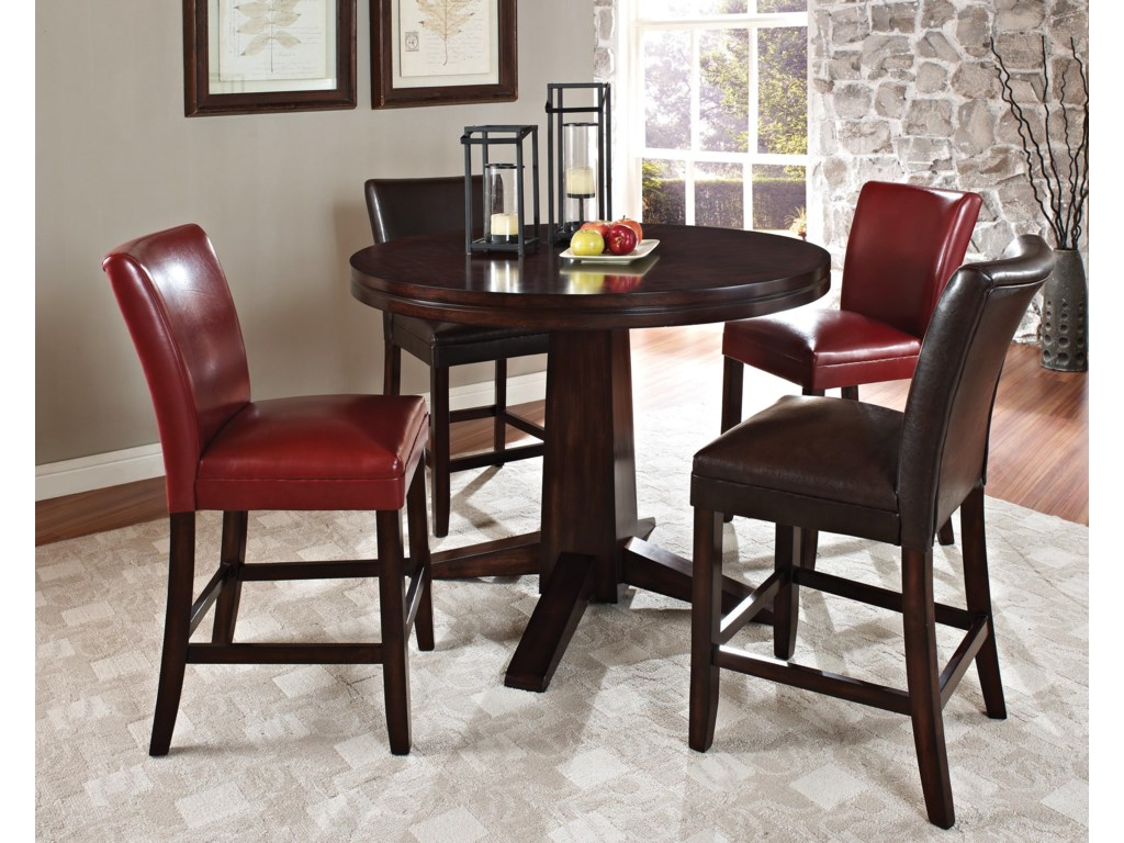 Shown with Brown and Red Counter Chairs