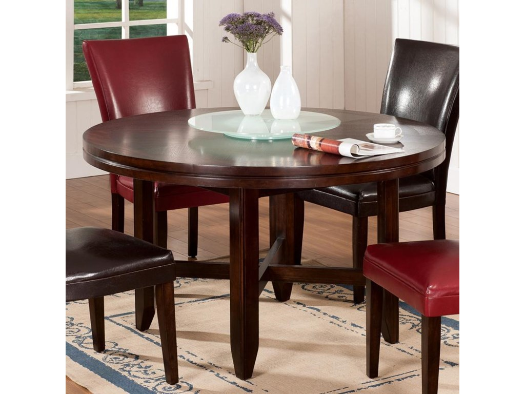 Hartford 52 Round Contemporary Dining Table By Steve Silver