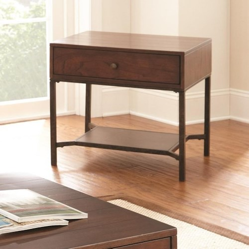 Steve Silver Hayden End Table with Metal Shelf