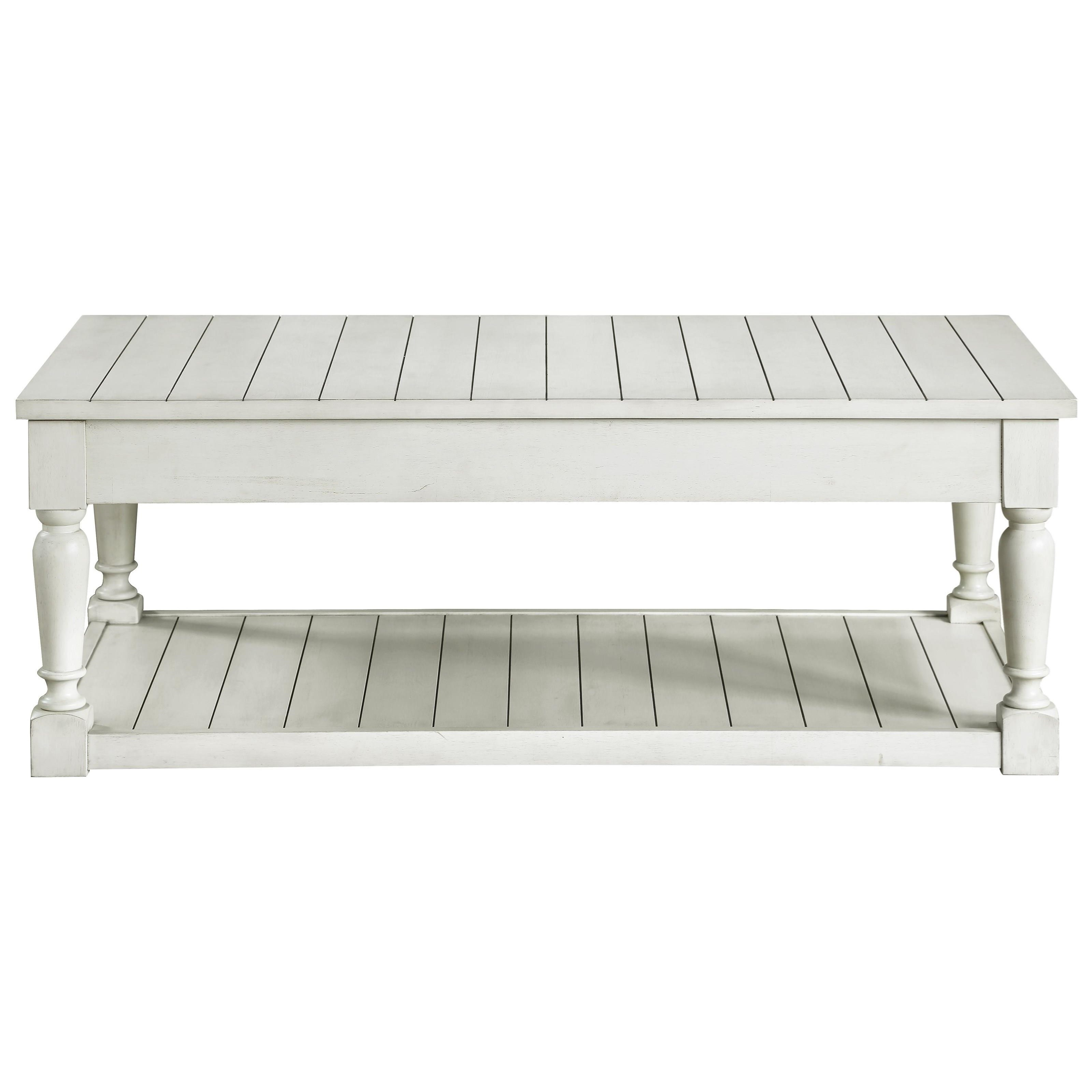 Cottage Coffee Table with Lift-Top Storage