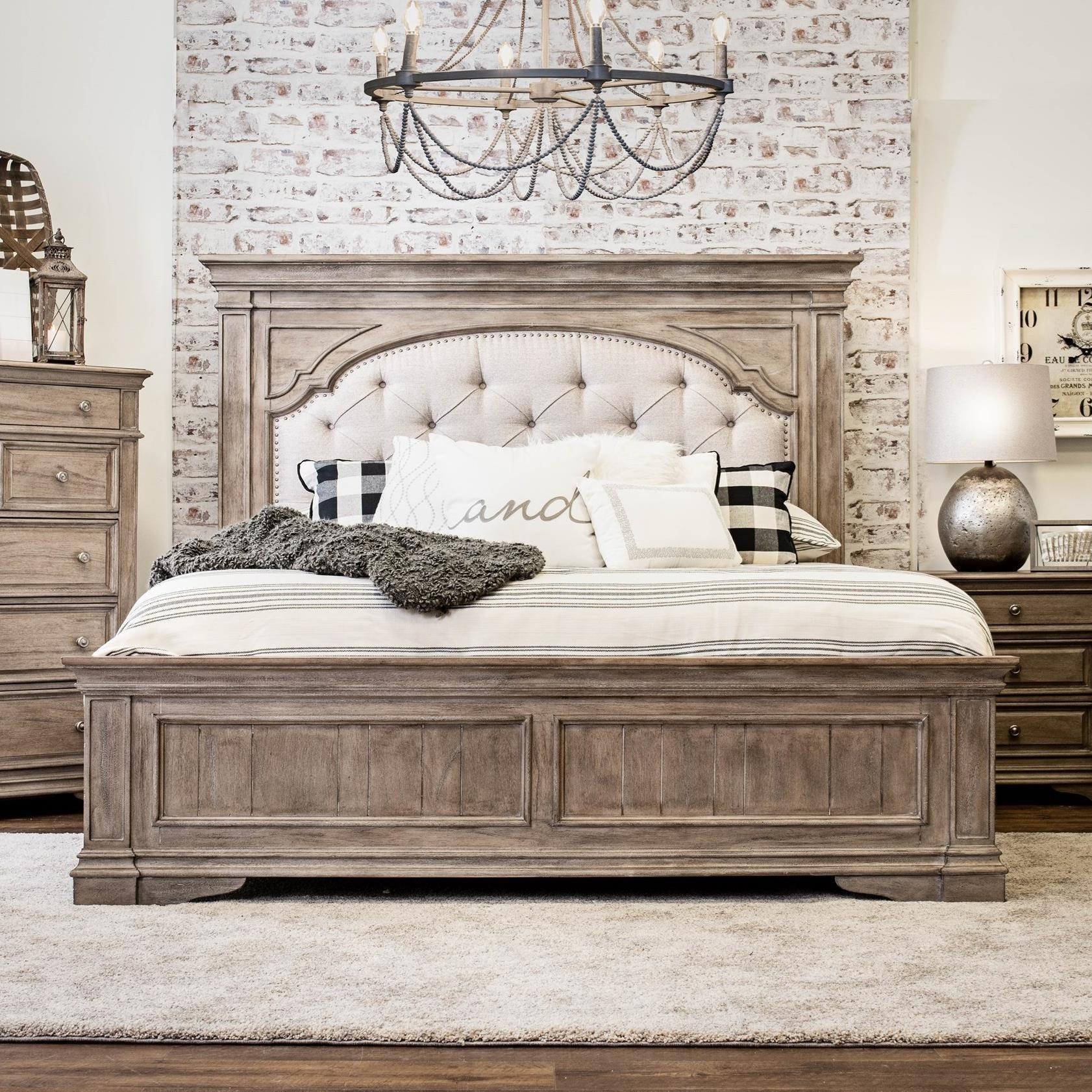 King Bed with Tufted Headboard