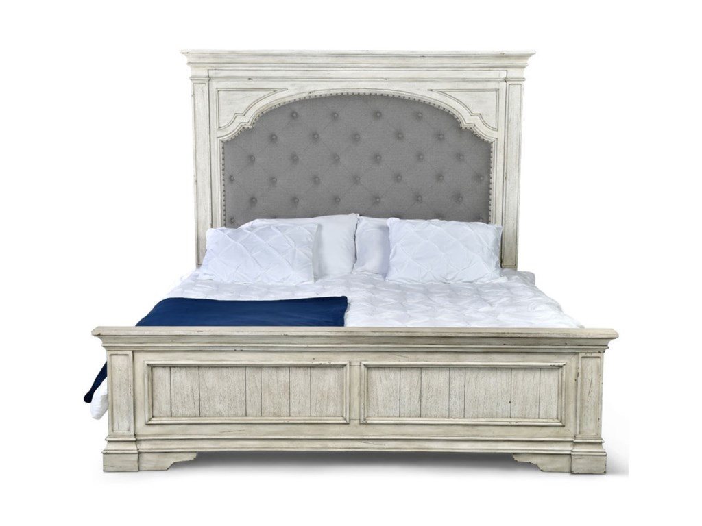 Steve Silver Highland Park Queen Bed With Tufted Headboard Wayside Furniture Upholstered Beds