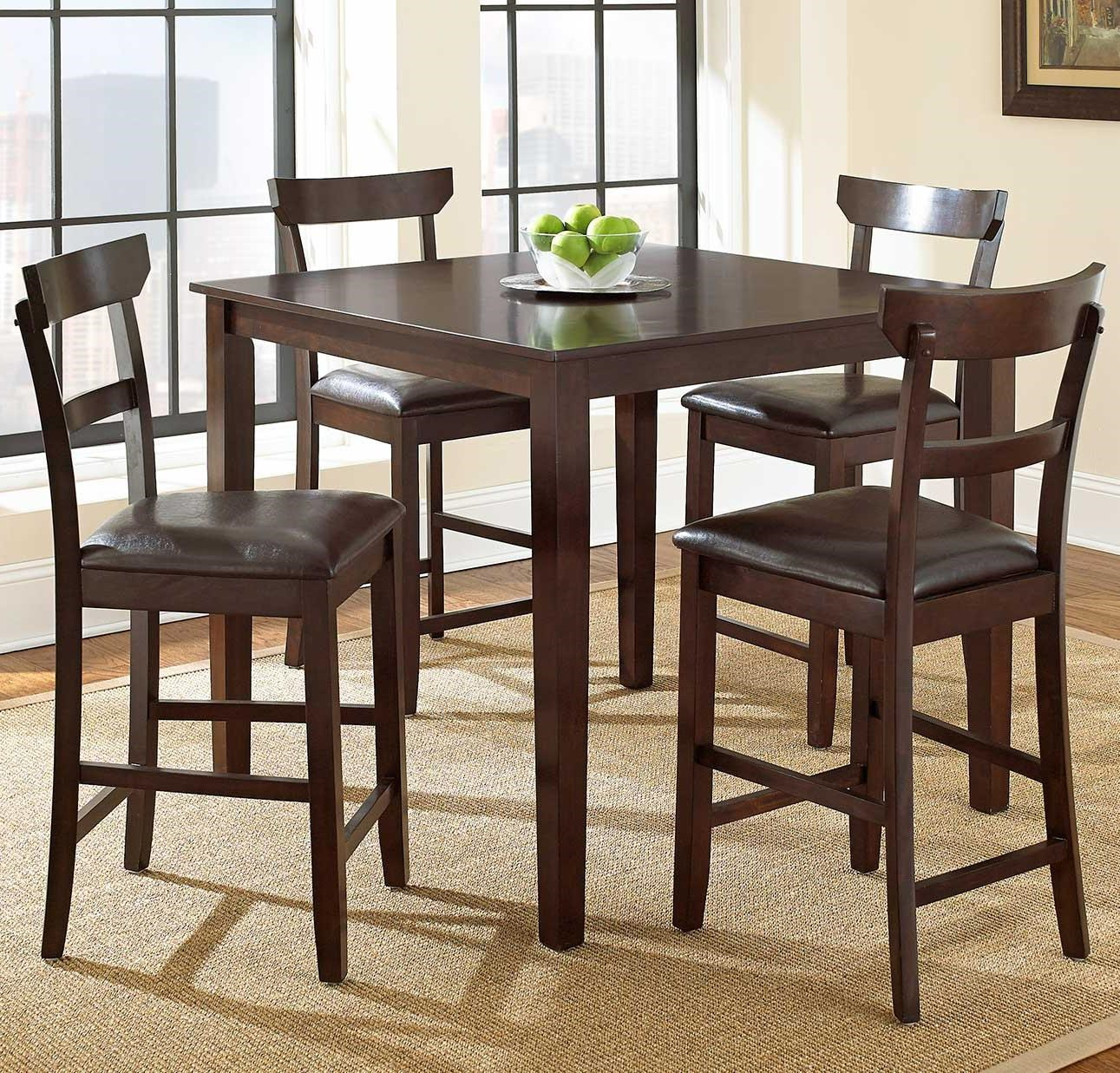 Steve Silver Howard 5 Piece Counter Height Dining Set   Great American Home  Store   Pub Table And Stool Set