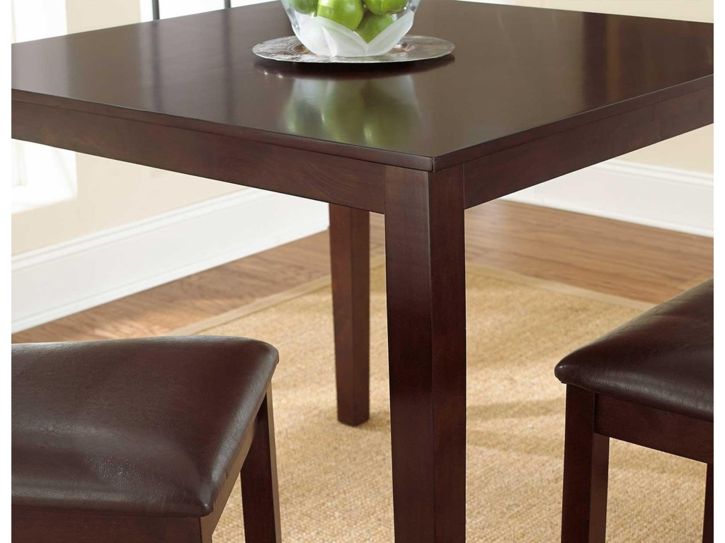 Table Features Cornered Edges