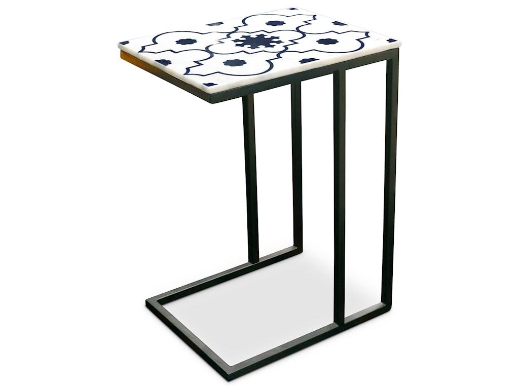 Steve Silver India AccentsLara Marble Top Sofa Server Table