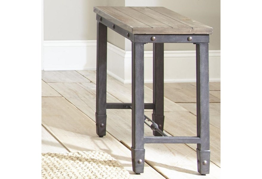 Steve Silver Jersey Je400ec Industrial Chairside Table With Iron