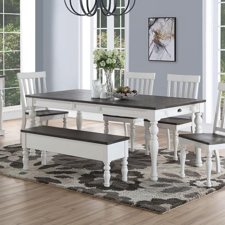 Dining Room Table with Turned Legs