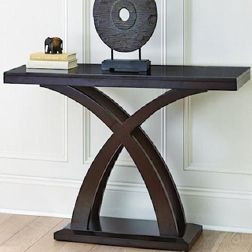 Steve Silver Jocelyn Sofa Table with Decorative X Base
