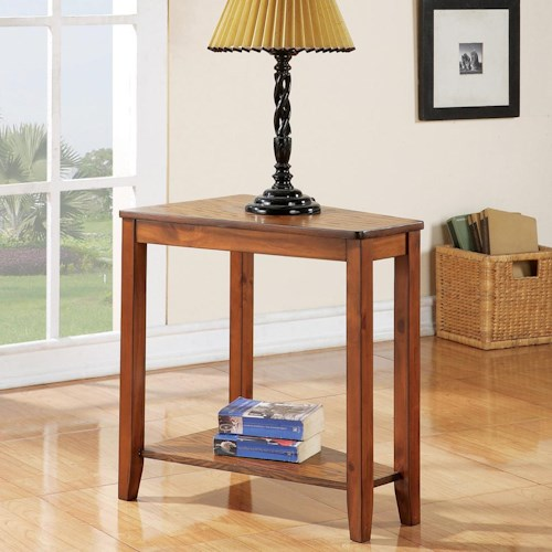 Steve Silver Joel  Casual Chairside End Table with Shelf