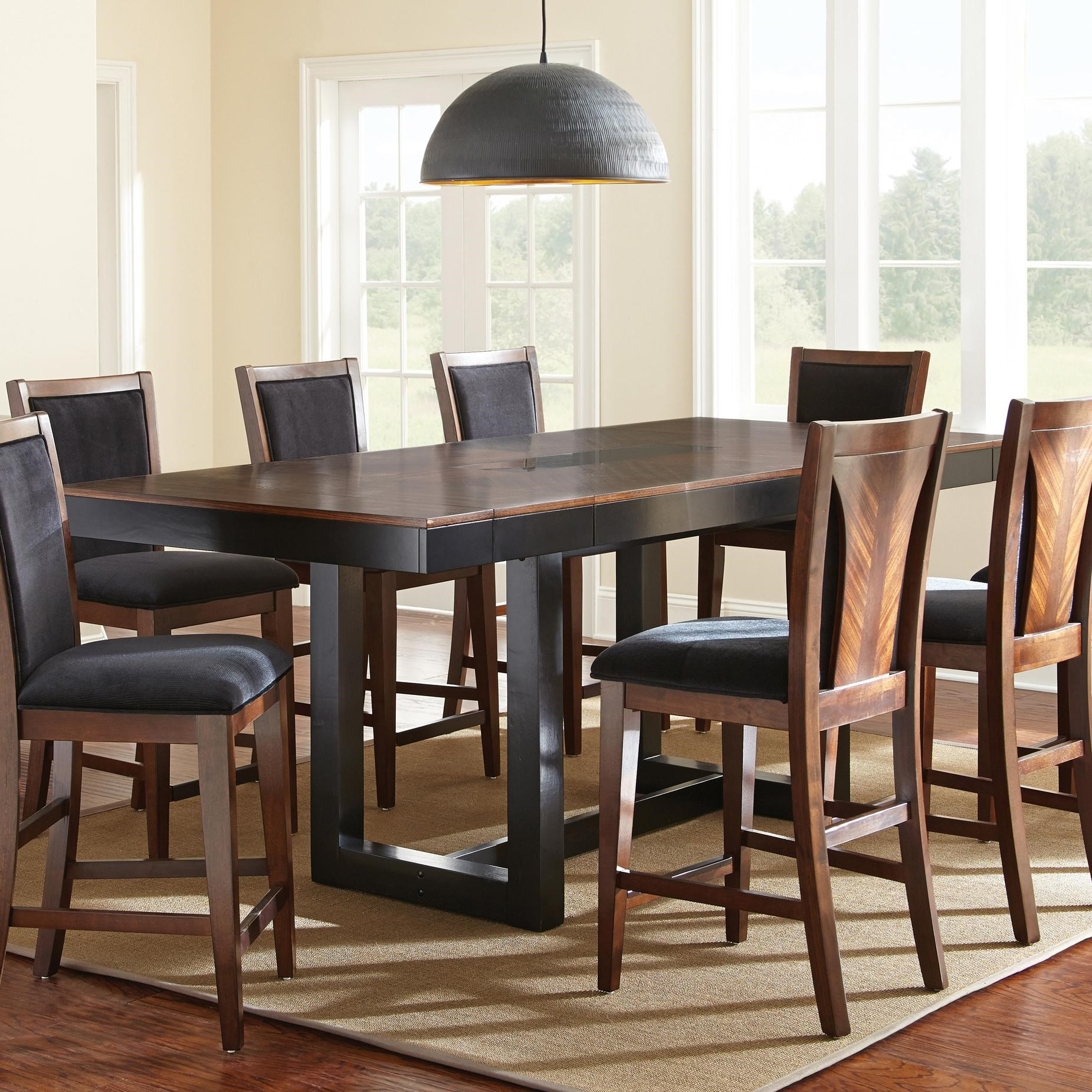 Vendor 3985 Julian Counter Height Dining Table With Granite Insert   Becker  Furniture World   Pub Tables