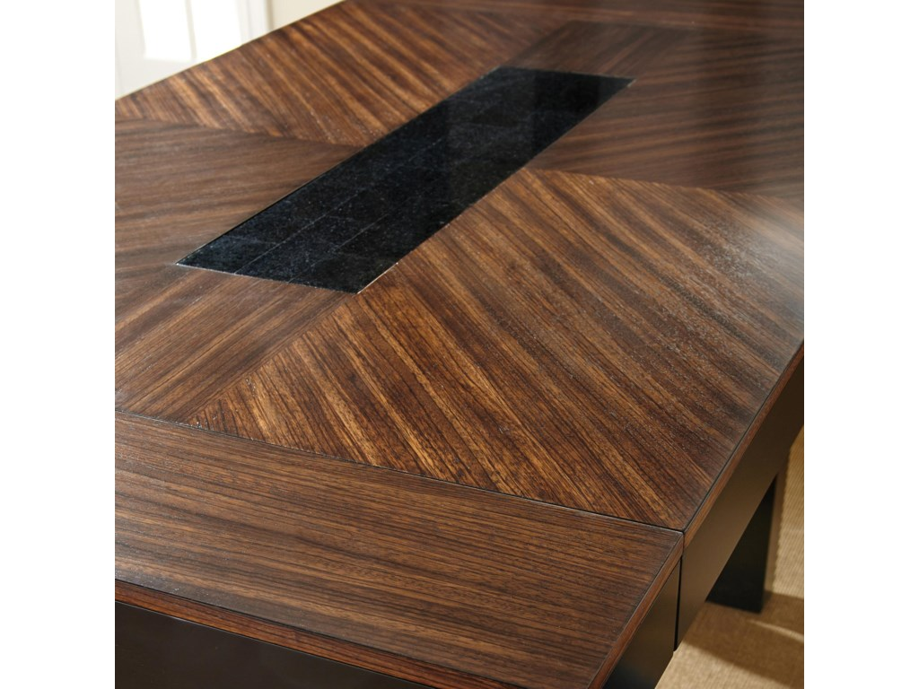 Zebra Wood Veneers with Granite Insert on Table Top