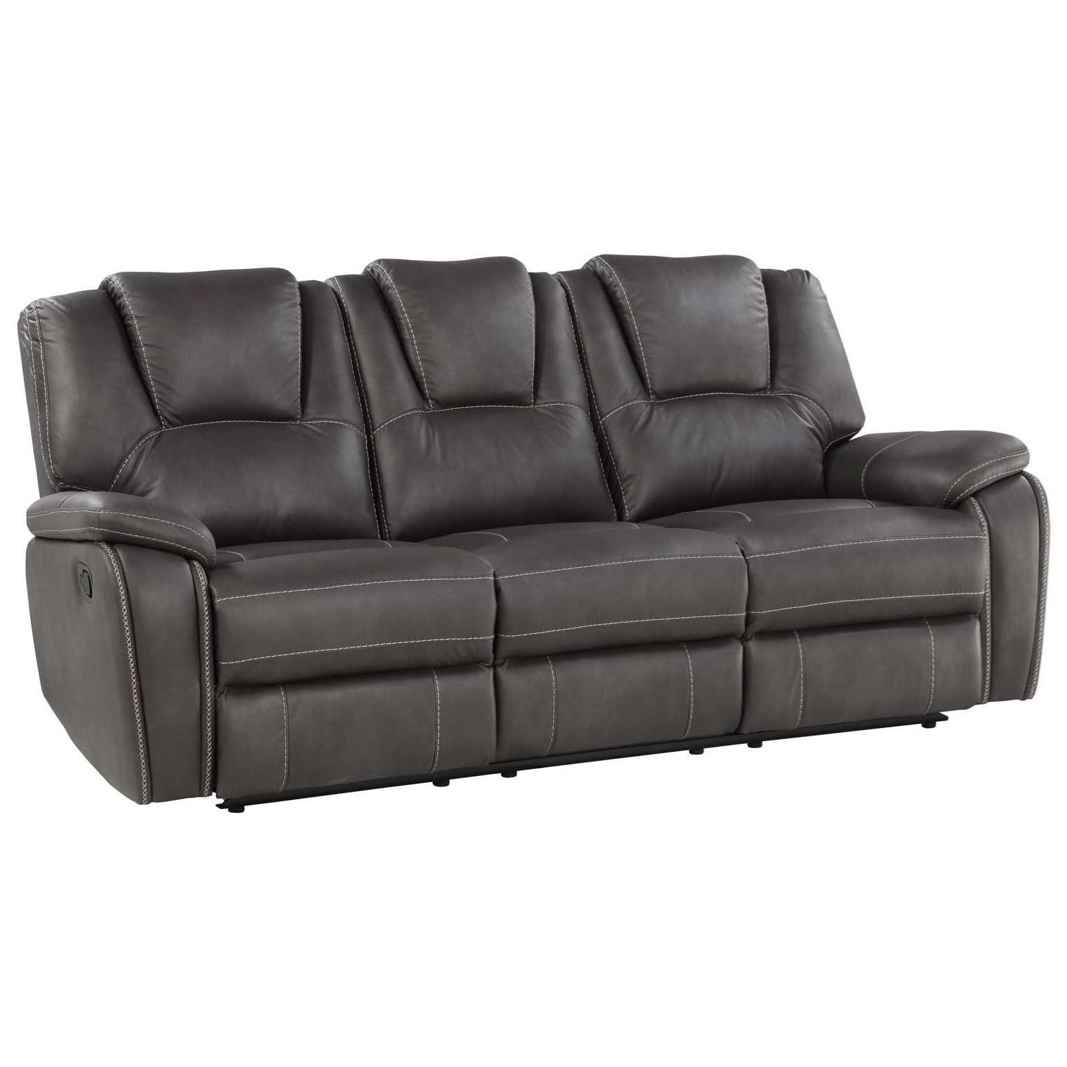 Manual Motion Sofa with Padded Headrests