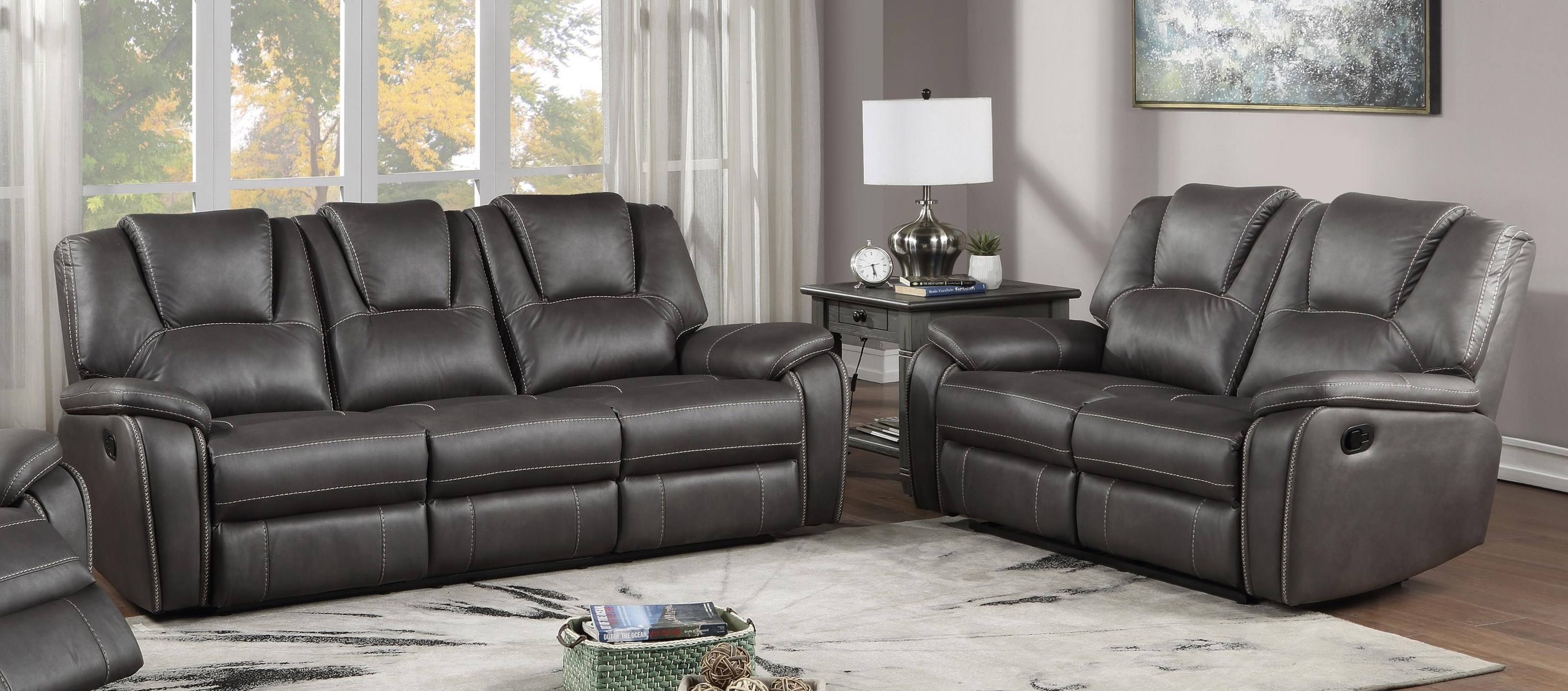 Picture of: Steve Silver Katrine Kt800sc Lc Reclining Sofa And Loveseat Set Sam Levitz Furniture Reclining Living Room Groups
