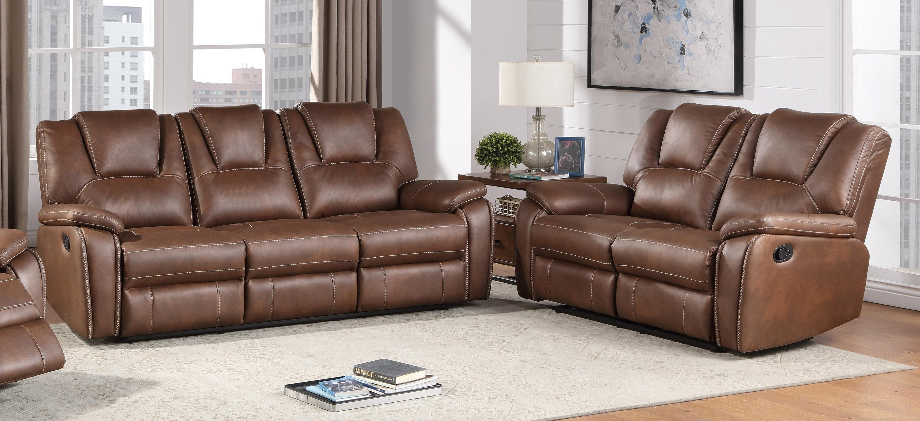 Picture of: Steve Silver Katrine Kt800sb Lb Reclining Sofa And Loveseat Set Sam Levitz Furniture Reclining Living Room Groups