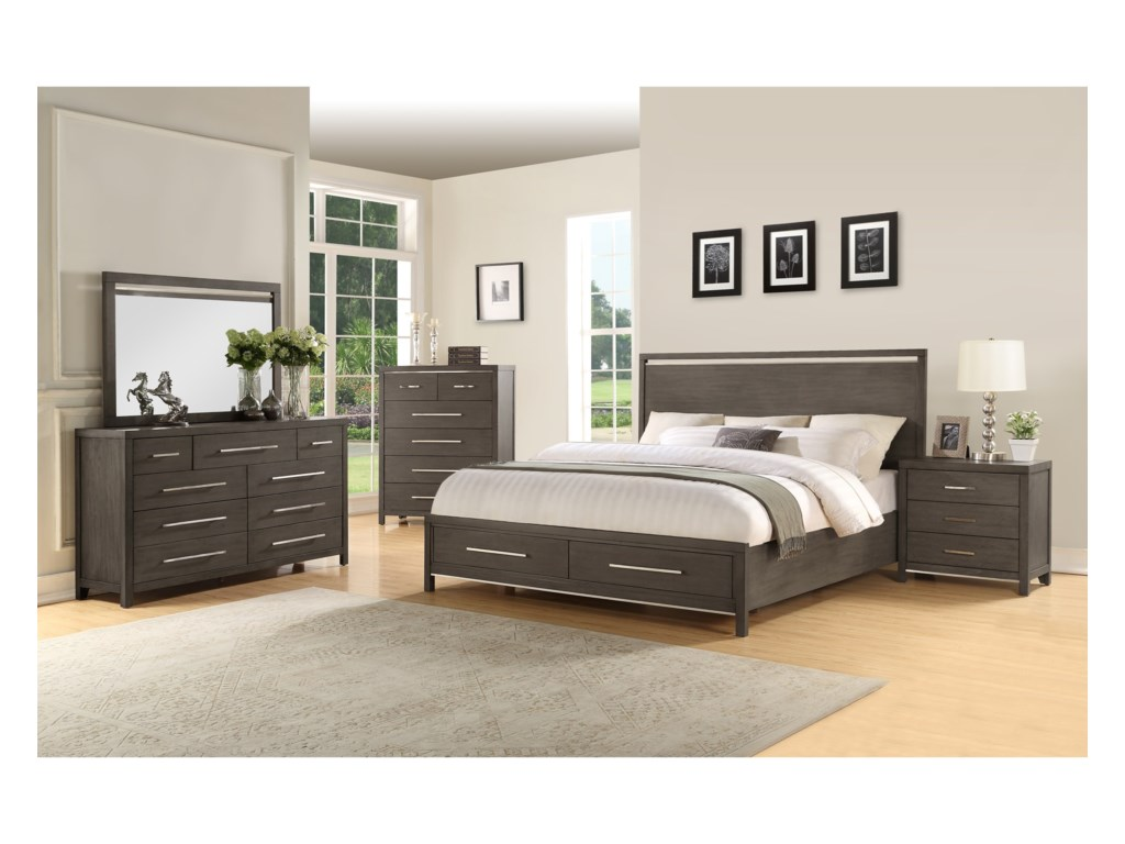 Steve Silver KatyKing Storage Bed